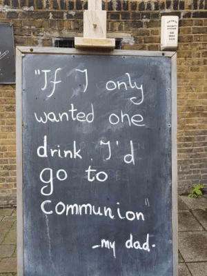 Spotted outside a pub in London: 020  643  ony  wanted ohe  rin  O to  Commun Lon  my dad Spotted outside a pub in London
