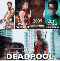 Memes, Movies, and 2009: 04 2009 2009 201  NG AWILSONDEPOOL LARTERN  DEADPOOL  LANTERN  DEADPOOL Rank these roles! • • • • Follow @deadpoolfacts for your daily Deadpool dose. 👇👇👇👇 @vancityreynolds 🙌 wadewilson marvelnation driveby q dc fox movies deadpool marvel deadpool2 hahaha lmfao heh