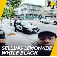 Graffiti, Memes, and Police: 04  SELLING LEMONADE  WHILE BLACK This is what it's like to be a black business owner in a gentrifying SF neighborhood: Racist graffiti and calls to the police for unlocking your own store.