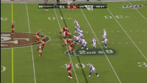 LaRoy Reynolds with the sack-fumble late in the 4th!  @49ers  #DALvsSF https://t.co/uN0RxSuOIC: 05 SPORTS  14  4TH  7:39  :17  2ND & 9  11  2nd & 9 LaRoy Reynolds with the sack-fumble late in the 4th!  @49ers  #DALvsSF https://t.co/uN0RxSuOIC