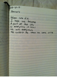 Alive, Love, and Tumblr: 06-12-13  Shouers  When ue de  T hope we become  A part the sey  so everyhiu it rain s  We art every uwhuk  We (ouldn'ψ be when we were alive orange-made-the-love:  •spirits of northern lights•