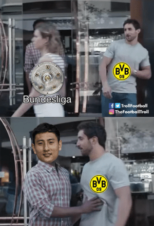 Memes, Chase, and 🤖: 09  Bundesliga  TrollFootball  TheFootballTroll  BVB  09 Dong-Won Ji double puts a dent in Borussia Dortmund's chase for the title. https://t.co/z6kdGAm609