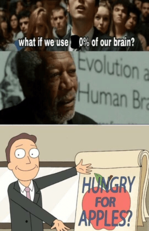 Tumblr, Blog, and Brain: 090 of our brain?  What if we use,  Evolution a  Human Br  ONGRY  FOR  PPLES scifiseries:  I mean, 0% of nothing is still 0, right?