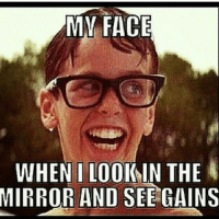 Gee wiz! .-@officialdoyoueven 👈: MY FACE  WHEN LOOK IN THE  MIRROR AND SEE GAINS Gee wiz! .-@officialdoyoueven 👈