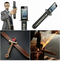 Sword hilt that holds your phone and charges it. Follow @9gag @9gagmobile 9gag (credit: GOES inc. & Kevin Shaw) katana iphonecase: 1매。  ore, o  t:r, Sword hilt that holds your phone and charges it. Follow @9gag @9gagmobile 9gag (credit: GOES inc. & Kevin Shaw) katana iphonecase