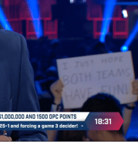 Game, Wholesome, and A Game: 1,000,000 AND 1500 DPC POINTS  25-1 and forcing a game 3 decider!  r18:31 <p>Wholesome esport fan</p>