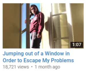 MeIRL, Window, and Order: 1:07  Jumping out of a Window in  Order to Escape My Problems  18,721 views 1 month ago meirl