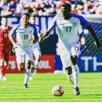 Memes, Serbia, and 🤖: 1  13  17  7 With his start in a friendly against Serbia on Sunday, @jozyaltidore became the second youngest @ussoccer player to reach 100 caps. At 27 years and 84 days, Altidore reached the century mark at a younger age than any other American player except for Landon Donovan, who earned his 100th cap at 26 years, 96 days. Altidore 100 USMNT USA centurion