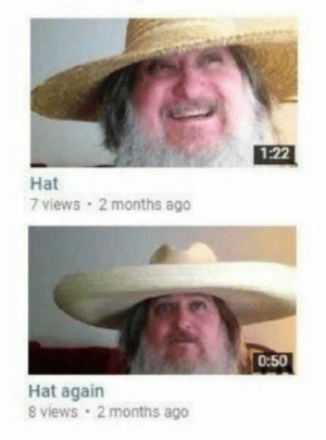Tumblr, Blog, and Http: 1:22  Hat  7 views 2 months ago  0:50  Hat again  8 views 2 months ago browsedankmemes:Perfect sequels don't exi— via /r/wholesomememes http://ift.tt/2GldSPS Now this is character development