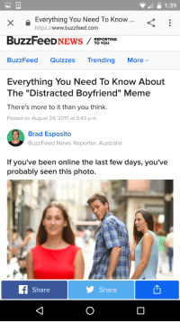 "<p>The end is nigh! SELL SELL SELL via /r/MemeEconomy <a href=""http://ift.tt/2wDt6ya"">http://ift.tt/2wDt6ya</a></p>: 1:39  X I  XEverything You Need To Know  https://www.buzzfeed.com  REPORTING  TO YOU  BuzzFeed Quizzes Trending Morev  Everything You Need To Know About  The ""Distracted Boyfriend"" Meme  There's more to it than you think.  Posted on August 24, 2017, at 5:43 p.m.  Brad Esposito  BuzzFeed News Reporter, Australia  If you've been online the last few days, you've  probably seen this photo.  Share  Share <p>The end is nigh! SELL SELL SELL via /r/MemeEconomy <a href=""http://ift.tt/2wDt6ya"">http://ift.tt/2wDt6ya</a></p>"