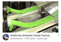 Candy, Kermit the Frog, and Target: 1:42  Inside the Airheads Candy Factory  duckcammer 776K views 3 years ago mgsotacon: i thought those were kermit the frog's legs