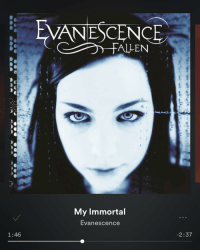 Caught my self singing this on the train 😭: 1:46  VANESCENCE  LLEN  My Immortal  Evanescence  2:37 Caught my self singing this on the train 😭
