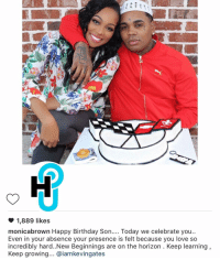 MonicaBrown wishes KevinGates a happy birthday, in his absence.: 1,889 likes  monicabrown Happy Birthday Son  Today we celebrate you  Even in your absence your presence is felt because you love so  incredibly hard..New Beginnings are on the horizon. Keep learning  Keep growing... aiamkevingates MonicaBrown wishes KevinGates a happy birthday, in his absence.