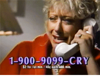 shesacarnivaaal:On speed dial: 1-900-9099-CRY  S2 for 1st min./45c each add min shesacarnivaaal:On speed dial