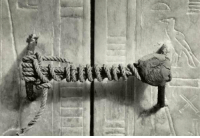 Memes, 🤖, and Unbroken: 1/a The unbroken seal on Tutankhamun's tomb. 3,245 years untouched.