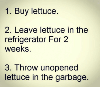 Reality. . @DOYOUEVEN 👈🏼 25% OFF CLICK FRENZY SALE - use code 'FRENZY' 🎉🚚 just tap the link in our BIO ✔️: 1. Buy lettuce  2. Leave lettuce in the  refrigerator For 2  weeks.  3. Throw unopened  lettuce in the garbage Reality. . @DOYOUEVEN 👈🏼 25% OFF CLICK FRENZY SALE - use code 'FRENZY' 🎉🚚 just tap the link in our BIO ✔️