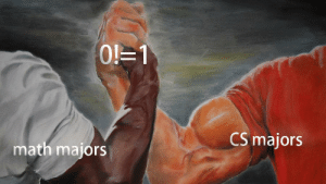 This meme requires 100IQ to understand: 1  CS majors  math majors This meme requires 100IQ to understand