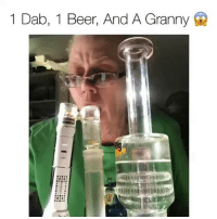 Whose keeping up? 🤔 follow @dabado for all your portable dabbing needs! 💨: 1 Dab, 1 Beer, And A Granny Whose keeping up? 🤔 follow @dabado for all your portable dabbing needs! 💨