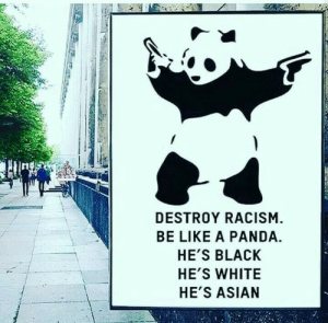 Asian, Be Like, and Dank: 1  DESTROY RACISM  BE LIKE A PANDA.  HE'S BLACK  HE'S WHITE  HE'S ASIAN Accurate by Master1718 MORE MEMES