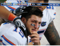 Internet, Sports, and Florida: 1 FLORIDA  IEl2ALABAMAer4TH 1:03  SECOCBS  16 Live look-in at Florida fans after losing to Kentucky for the first time since before the internet existed: https://t.co/FD2gaP2a6V