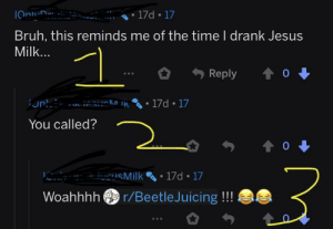 1=him saying something about his name 2=him saying you called, and 3=him saying beetlejuicing. I hate r/teenagers: 1=him saying something about his name 2=him saying you called, and 3=him saying beetlejuicing. I hate r/teenagers