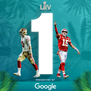 1 hour. #SBLIV is almost here!  (by @google)  📺: #SBLIV | 6:30pm ET on FOX 📱: NFL app // Yahoo Sports app https://t.co/DlY8VW7Xih: 1 hour. #SBLIV is almost here!  (by @google)  📺: #SBLIV | 6:30pm ET on FOX 📱: NFL app // Yahoo Sports app https://t.co/DlY8VW7Xih