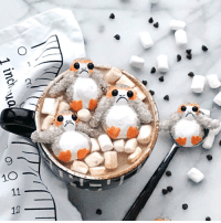 starwars:  Porgs + Marshmallows = The perfect hot chocolate companion. http://strw.rs/6005DH85h: 1 inch  90 11 12 starwars:  Porgs + Marshmallows = The perfect hot chocolate companion. http://strw.rs/6005DH85h