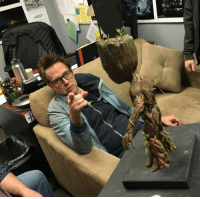 James Gunn examining a Baby Groot model during the pre-production of GUARDIANS OF THE GALAXY VOL. 2!  (Andrew Gifford): 1 James Gunn examining a Baby Groot model during the pre-production of GUARDIANS OF THE GALAXY VOL. 2!  (Andrew Gifford)