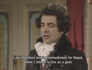 Crush, Friends, and Goat: 1  lam therefore leaving immediately for Nepal,  where I intend to live as a goat. When you ask out your crush in front of all your friends, but she rejects you.