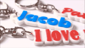 Love, Texting, and Tumblr: 1 love very-demotivational:    Personalized 3D Printed Key Chain, Bag Tag, Name Tag     Would you like to treat yourself or your loved ones to keychain a Bag Tag or a Name Tag with a unique title on it? You can order it with a name, a nickname or even a text of your own.