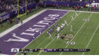 Memes, New Orleans Saints, and Goal: 1 NO 0  421 MIN 0 1st 10:38 :08  3rd & Goal  5-1 .@DrewBrees flips it to @A_Kamara6 for the @Saints TD! #NOvsMIN #GoSaints  📺: NBC https://t.co/b2nGcplvwK