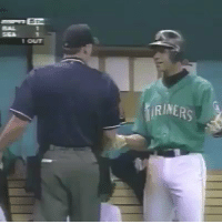 LEGENDARY MOMENT: The time when when the Umpire took A-Rod's bat so then Griffey gave A-Rod his bat and then on the next pitch A-Rod went yard...😮💯 https://t.co/Ot2XMPjMYB: 1 OUT  RINERS LEGENDARY MOMENT: The time when when the Umpire took A-Rod's bat so then Griffey gave A-Rod his bat and then on the next pitch A-Rod went yard...😮💯 https://t.co/Ot2XMPjMYB