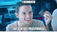 Hyperspeed security: 1 REMOVED  THE SSH KEY PASSPHRASE Hyperspeed security