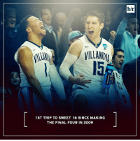 Villanova will be dancing in the Sweet 16 after beating Iowa by 19!💃: 1 ST TRIP TO SWEET 16 SINCE MAKING  THE FINAL FOUR IN 2009  b/r Villanova will be dancing in the Sweet 16 after beating Iowa by 19!💃