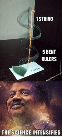 [Physics intensifies]: 1 STRING  5BENT  RULERS  THE SCIENCE INTENSIFIES [Physics intensifies]