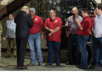 Yesterday, President Trump meets with members of the Cajun Navy at the National Guard Armory in Lake Charles, La., where he also met those dealing with the impact of Hurricane Harvey.: -1 Yesterday, President Trump meets with members of the Cajun Navy at the National Guard Armory in Lake Charles, La., where he also met those dealing with the impact of Hurricane Harvey.