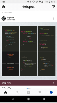 """Anaconda, Confidence, and Crush: 10 0 4390 1:16  Instayiam  12 HOURS AGO  displate  Sponsored  #include <stdio.h>  int main(O  public class mrMeeseeks(  printf(""""Hello, World!);  return e  public arMeeseeks (Task task) (  //constructor  public class algorithmofSuccess  //algorithm of success  System.out.print(""""I'm Mr. Meeseeks);  System.out.print(""""look at me!"""")  public static void main(String[] args)(  public class Helloworld  while (task.completed) (  public static void main(String[] args)  System.out println( """"Hello, World)  while( success )(  solve( task);  tryAgain);  if task.completed)  ifC dead  break;  this.StopExisting);  else (  print(Hello, World!"""")  public static void tryAgain)  mrMeeseeks aux  new mrMeeseeks(task);  confidence && hardwork;  success  this.getMad );  //Existence is pain!  #include <iostream>  using namespace std;  int main()  coutcc""""Hello,  return 0;  Horld!"""";  if (condition)  Statements  int main(O  //crush algorithm  int main()  //Daft Punk Get Lucky ALgorithm  while (i.love( you)  while(night)  if you.have( boyfriend)  raiseBar(bar,stars);  raiseCup(cup, stars);  becomeFriends( you, i);  else  if( you . think( İ.an( charming ) ) ){  if she.isUp)  CHOOSE YOUR TEAM  string msg """"I love you """";  cout<<msgc<you.nameccendl;  me . lucky rand()%100;  getSome me.lucky 50;  //get Lucky  else  iyou.Look4InAMan);  if (condition )  Statements  return θ;  return θ;  Shop Now  0"""
