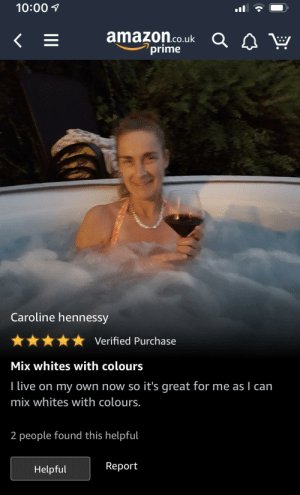 Review to colour catcher sheets: 10:00 1  amazon.co.uk Q.  prime  Caroline hennessy  Verified Purchase  Mix whites with colours  I live on my own now so it's great for me as I can  mix whites with colours.  2 people found this helpful  Report  Helpful Review to colour catcher sheets