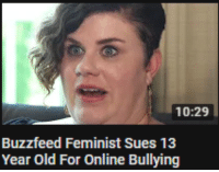 Buzzfeed: 10:29  Buzzfeed Feminist Sues 13  Year Old For Online Bullying