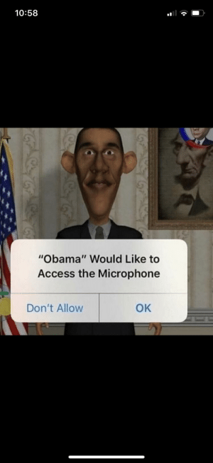 "Donald Trump, Obama, and Access: 10:58  ""Obama"" Would Like to  Access the Microphone  Don't Allow  OK Donald Trump accuses former president Barack Obama of wire tapping [AC 2017]"