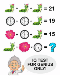 Genius: 10  7 6 5,  7 6 5  IQ TEST  FOR GENIUS  ONLY!