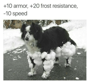That Sweet Armor by ZevireTees MORE MEMES: +10 armor, +2O frost resistance,  -10 speed That Sweet Armor by ZevireTees MORE MEMES