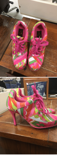 Life, I Came, and Goodwill: 10  CA  10  CA <p>So I came across a pair of sneaker stilettos at Goodwill and they are easily the ugliest things I've ever seen in my life.</p>
