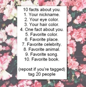 """bloggeronbakerstreet:  winchestertrials:  fan-of-many-fandoms:  captassbutt:  Tagged by rowdy-redhead1. Umm I don't really have a nickname2. Brown3. My hair is currently brown with some blonde in it4. I have a puppy named Bella!!5. Pink6. Either my house or Universal Studios7. Chris Fucking Evans8. Other than my baby probably cows9. Hawkeye Sings About His Super Powers (that counts right??)10. Harry Potter and the Deathly HallowsTagging: fan-of-many-fandoms castiel-sexhair tonybruce sparksflycastiel emmas-killian captnadorable stexerogers  Tagged by captassbutt1. Jess2. Hazel3. My hair currently is dirty blond with light blond highlights4. I want to be a flight attendant5. Blue or Purple 6. My house 7. AHHHH DON'T MAKE ME CHOOSE!!!! If I did have to choose one…. Jared Padalecki8. Horses9. The hillywoodshow Supernatural Shake it Off Parody10. Harry Potter and the Prisoner of Azkaban Tagging: marie-thevillain winchestertrials thebrokensoldierwithoutwings sarcasm-in-the-impala the-fandoms-are-crying  I was tagged by fan-of-many-fandoms  1. Court 2. Green (they change colors) 3. Dark brown 4. I'm a musician  5. Purple  6. My room 7. Jared Padalecki  8. Lion 9. Carry on my wayward son 10. HP series   I tag sassplaidandbulletholes jagerjensen learntoaim hellsqveen bloggeronbakerstreet pantherprancealot cuteandcuddlyvampirate  Tagged by @winchestertrials, go check out their blog!!1. Don't really have one.2. Sometimes grey, sometimes blue.3. Brown [exotic, I know]4. Right now, I'm meant to be moving my stuff out of my flat but hey, I'm on Tumblr. Again.5. Green! [but nice green, not eugh-y green]6. Don't have a specific one. If I did, it'd probably be my car, which I don't have yet.7. Misha Collins [because who else]8. Tiger.9. At the moment, it's""""Free"""" by Jack Johnson because it's summery and semester is over :)10. My Gray's Anatomy book because hey, anatomy.I tag: waywardkhaleesi, pantherprancealot, justkeeprockingon, deangirl1992 and a-moose-in-the-impala.  Tagged by blo"""