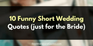10 Funny Short Wedding Quotes Just for the Bride ...