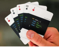 """Playing cards for developers: 10 J  2  JovaScript  fina $ca  fini ar  System  var card # {  rank: 11,  suit: """"hearts""""  name: Jack""""  Carp a Playing cards for developers"""