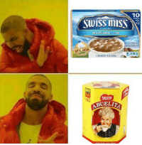 Beats, Chocolate, and Swiss: 10  Swiss misS  FRAL  BUELIT Nothing beats some chocolate abuelita and some pan dulce