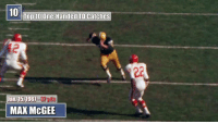 Memes, Good, and Time: 10  Top 10 One-Handed TD Catches  12  Jan. 15, 1961-3yds  Jan. 15,1967-3y  MAX McGEE So good. SO GOOD.  The Top 10 one-handed TD catches of all time! #TDTuesday https://t.co/hZJELyQsOO