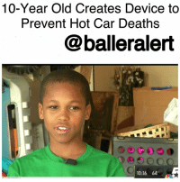 """10-Year Old Creates Device to Prevent Hot Car Deaths-blogged by @thereal__bee ⠀⠀⠀⠀⠀⠀⠀ Bishop Curry V is only 10 years old and is already leaving his mark on the world with his latest creation. The young Texas native is now making headlines for his latest project which is a device that could potentially help prevent children from dying in hot cars. ⠀⠀⠀⠀⠀⠀⠀ ⠀⠀⠀⠀⠀⠀⠀ NBC Washington reports that overall, the number of children who have died in hot cars has made a huge increase over the last year, with Curry's home state having the highest number of cases. ⠀⠀⠀⠀⠀⠀⠀ ⠀⠀⠀⠀⠀⠀⠀ In addition to the epidemic affecting his hometown, it also has had a personal affect on Bishop. Last summer a baby died in a minivan near his home right outside McKinney. ⠀⠀⠀⠀⠀⠀⠀ ⠀⠀⠀⠀⠀⠀⠀ His father, Bishop Curry IV, knew the exact location of the house. ⠀⠀⠀⠀⠀⠀⠀ ⠀⠀⠀⠀⠀⠀⠀ """"Sometimes babies fall asleep and they're really quiet, so if you're rushing home from work or you're rushing to the grocery store, I could see how somebody could forget,"""" said Curry, who is an engineer for Toyota in Plano, Texas. ⠀⠀⠀⠀⠀⠀⠀ ⠀⠀⠀⠀⠀⠀⠀ Bishop used the horrific incident as inspiration to create a device called """"Oasis,"""" which would attach to a car seat and detect if a child is left inside the vehicle, causing it to blow cool air into the vehicle until the parents or the police arrive. ⠀⠀⠀⠀⠀⠀⠀ ⠀⠀⠀⠀⠀⠀⠀ """"It would be a dream to have lots of inventions that would save many lives,"""" the tech savvy 10-year-old told the news station. ⠀⠀⠀⠀⠀⠀⠀ ⠀⠀⠀⠀⠀⠀⠀ While the device is still in the design phase, it's development is off to a great start. Bishop already has a provisional patent for the device, and his dad's employer, Toyota, has already taken notice of Bishop's creation.: 10-Year Old Creates Device to  Prevent Hot Car Deaths  balleralert  10:16 64 10-Year Old Creates Device to Prevent Hot Car Deaths-blogged by @thereal__bee ⠀⠀⠀⠀⠀⠀⠀ Bishop Curry V is only 10 years old and is already leaving his mark on the world with his latest creation. The"""