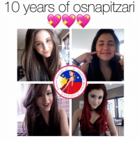 Ariana Grande, m.facebook, and m.facebook.com: 10 years of osnapitzar  ST 2013 So proud of her 😍  Get Free Ariana Grande Lockscreens here ❤️: https://m.facebook.com/AGBLockscreens?ref=bookmarks  —ag༄